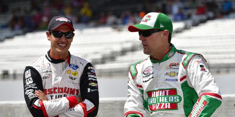 Kevin Harvick and Joey Logano will be in the broadcast booth for the June 10 NASCAR Xfinity Series race at Pocono Raceway.
