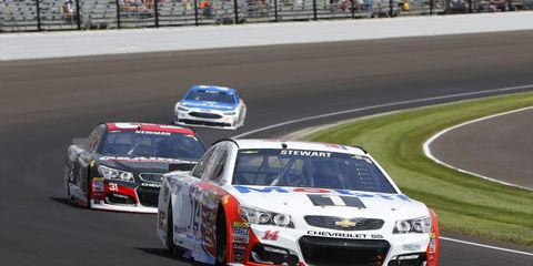 Tony Stewart gave the fans a fond farewell Sunday at Indianapolis Motor Speedway, but the driver is still working toward winning his fourth Cup championship.