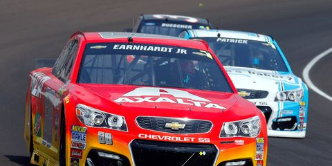 Jeff Gordon made his first appearance in a race car since November last week at Indianapolis, subbing for Dale Earnhardt Jr. in the 88 Hendrick Motorsports Chevy SS.