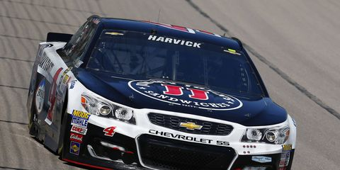 Kevin Harvick was awarded the pole for this weekend's Dover race after qualifying was washed out because of rain.