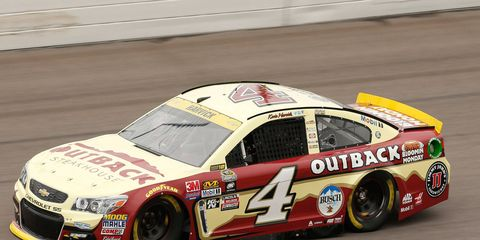 Kevin Harvick beat Carl Edwards to the finish line by 1.183 seconds at Kansas Speedway on Sunday.