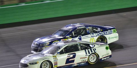 Brad Keselowski won Saturday night's NASCAR Sprint Cup race at Kentucky, and with four wins, he still holds the top spot in the Chase standings.