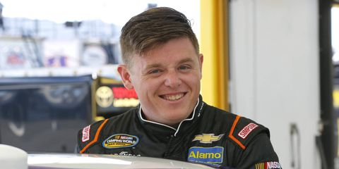 Spencer Gallagher made 10 Xfinity Series starts last season with a best finish of seventh at Daytona in July.