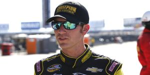 Grant Enfinger captured his first NASCAR Camping World Truck Series victory on Saturday at Talladega Superspeedway