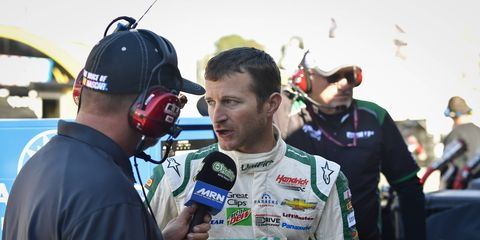 Kasey Kahne gives an interview to MRN