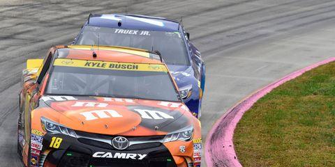Kyle Busch goes for the NASCAR Sprint Cup Series Texas sweep on Sunday.