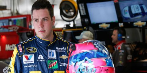 Alex Bowman is making his 73rd career NASCAR Sprint Cup Series start on Sunday. He's still looking for his first top-10 finish.