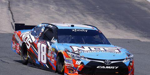 Kyle Busch won the New Hampshire NASCAR Xfinity race on Saturday.