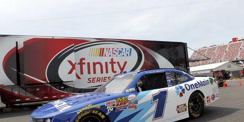 Elliott Sadler won Saturday's NASCAR Xfinity race.