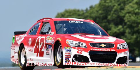 Kyle Larson will try to recover after Watkins Glen crash.