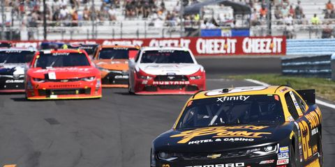 Brendan Gaughan, pictured, along with Brandon Jones and Ty Dillon, will try to get Richard Childress Racing back to victory lane at Mid-Ohio.