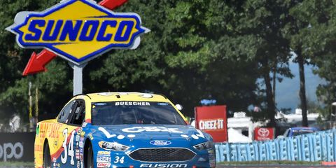 Chris Buescher is fast closing in on the top 30 in points and a guaranteed spot in the NASCAR Chase for the Championship thanks to his win last week at Pocono.