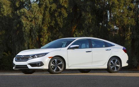 The redesigned Civic