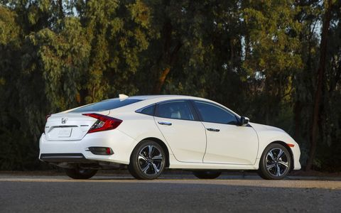 The redesigned Civic is the lowest one to date, designed to compete with luxury European sedans from Audi, Mercedes-Benz and BMW.