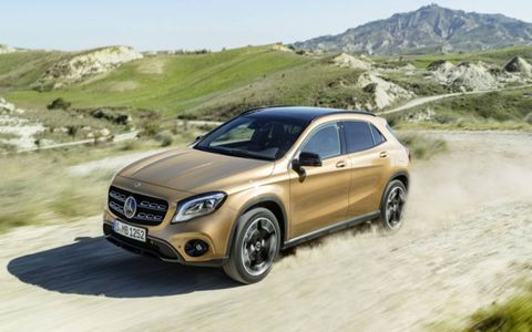 The 2018 Mercedes GLA offers a new look, but doesn't deviate from the current suspension or engine options.