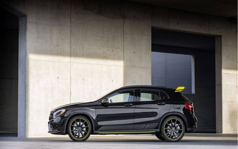 Check out the most radical looking car in the GLA lineup.