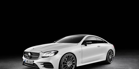 The 2018 Mercedes E400 Coupe comes with a twin-turbo 3.0-liter V6 delivering 329 hp and 354 lb-ft of torque.