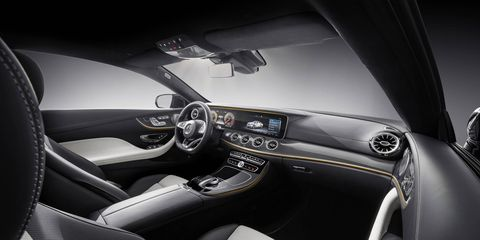 """This 2018 Mercedes-Bezn E400 Coupe came with the $9,350 """"Premium 3"""" package including active-park assist, wireless phone charging, widescreen digital instruments, active steering and lane-change assist and more."""