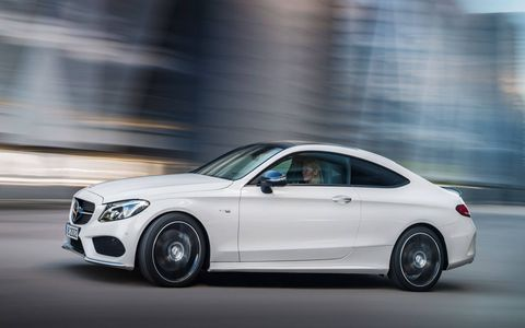 The C43 Coupe will fall in between the C300 and C63 in power and price.