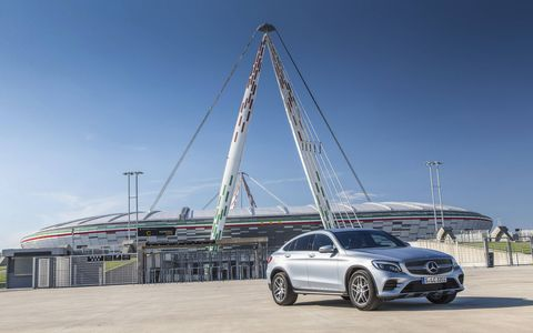 Mercedes-Benz gave its GLC SUV the coupe treatment for 2017.