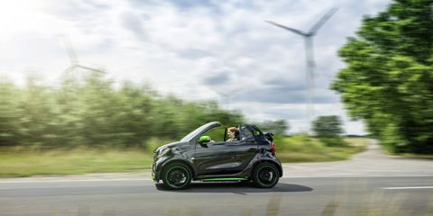 Along with its coupe brother, the 2017 Smart fortwo electric drive cabriolet will debut at the 2016 Paris motor show