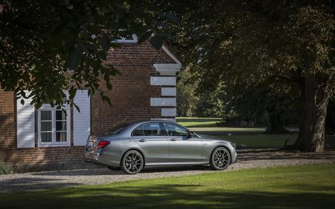 The E43 AMG has a 3.0-liter twin-turbo V6 with  396 hp and 384 lb-ft of torque and a nine-speed automatic transmission. It'll hit 60 mph in 4.5 seconds.