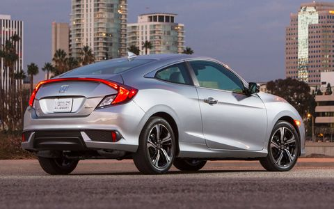 The 2016 Honda Civic is on sale now and sports a 2.0-liter four with 158 hp and 138 lb-ft.