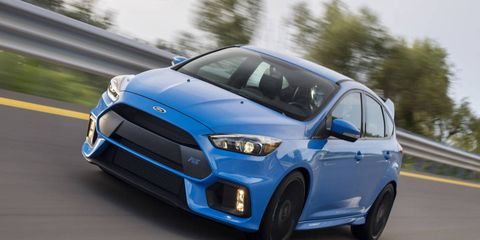 Can't wait for the Focus RS (shown)? For less than $30K you can have all the torque steer you ever wanted with its FWD brother, the Focus ST.
