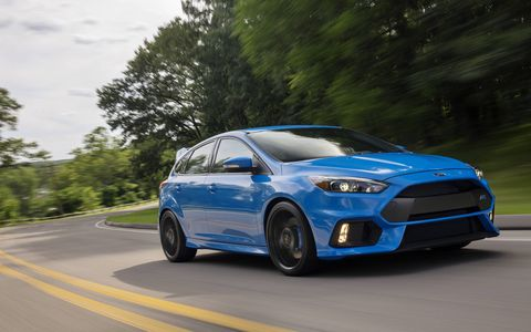 The RS' 2.3-liter EcoBoost engine (we bet that 315 hp is conservative) is good enough to haul the thing to 62 mph in 4.7 seconds making it the fastest-accelerating Ford RS ever.