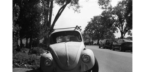 1968 Volkswagen Beetle, photographed with 1910s European camera.