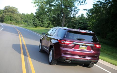 The 2018 Chevy Traverse takes on more of an SUV look in its second generation.