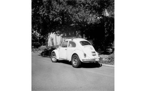 1968 Volkswagen Beetle, photographed with 1960 Kodak Flashmite camera.