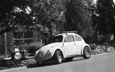 1968 Volkswagen Beetle, photographed with 1910s European camera.