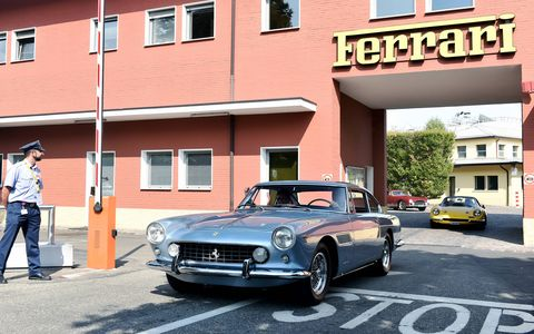 The big tour started in eight different European cities and culminated in Fiorano for the big Ferrari birthday bash. Ferraris of all eras took part, 500 cars in all. They were joined by auction cars, Concours cars and a few straggling 400is. Everybody had a good Tour and a good time.