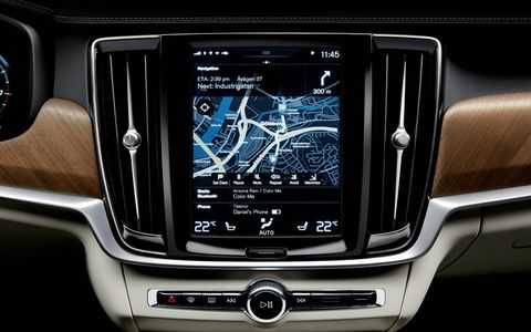 Volvo debuts the S90 luxury sedan.