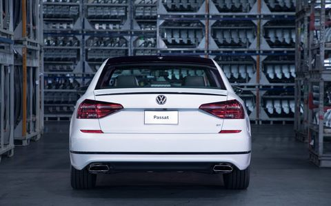 The 2018 VW Passat GT gets sporty R-Line cues as well as a 3.6-liter V6 making 280 hp and 258 lb-ft.