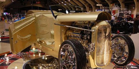 """This '32 Ford roadster, named """"Undisputed,"""" grabbed the America's Most Beautiful Roadster trophy."""