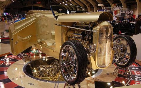 "This '32 Ford roadster, named ""Undisputed,"" grabbed the America's Most Beautiful Roadster trophy."