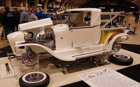 Roy Brizio showed his restoration of George Barris' A La Kart, reentered into competition on its 50th anniversary.