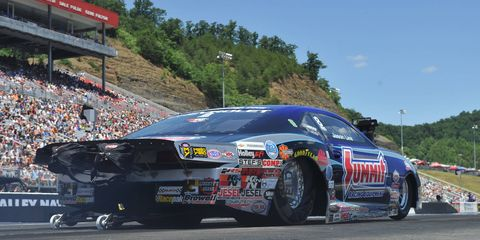 Jason Line won from the top qualifying position on Sunday at Bristol.