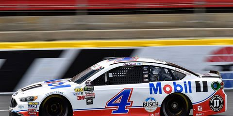 Kevin Harvick scored his 20th career pole on Thursday night at Charlotte Motor Speedway.