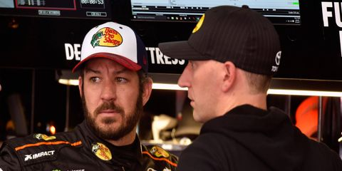 Martin Truex Jr. leads the Monster Energy NASCAR Cup Series points standings.