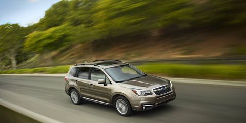 The 2017 Subaru Forester gets a front fascia more in line with other Subaru models.