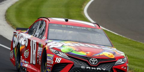 The pole for Kyle Busch was his second consecutive at Indy.