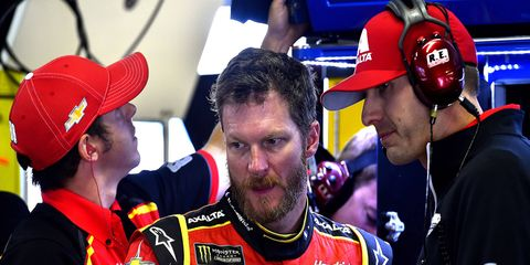 Dale Earnhardt Jr. started 19th, ran inside the top 10 briefly, and finished 14th.