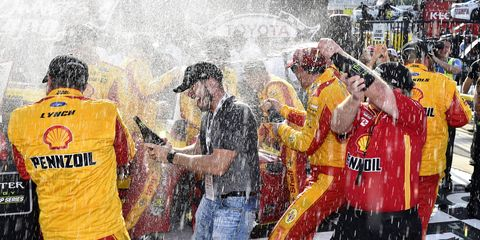 A thorough post-race inspection revealed an infraction on Logano's car, which had crossed the finish line first in the NASCAR event at Richmond International Raceway.