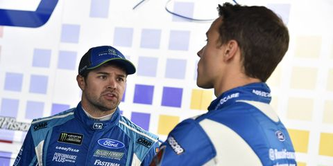 Ricky Stenhouse Jr. and Trevor Bayne are both roughly 10 spots better than they were last season.