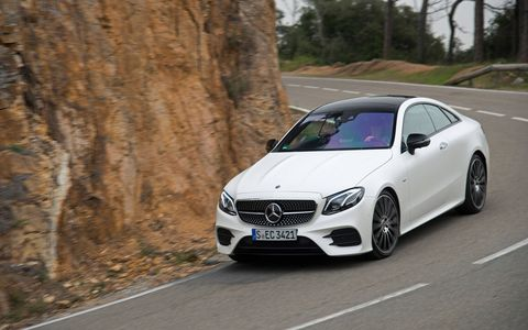 We drive the 2018 Mercedes-Benz E-Class Coupe, a tech-laden tourer set to go on sale in the United States summer 2017.