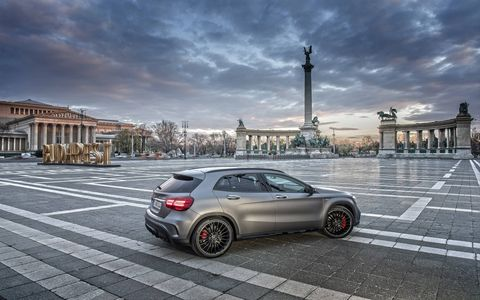 The 2017 Mercedes AMG GLA45 crossover.
