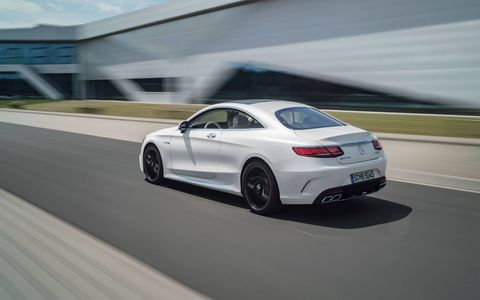Inside and outside the 2018 Mercedes-AMG S63 Coupe and Cabriolet, which are now powered by 4.0-liter turbocharged V8s good for 603 hp.